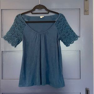 Anthropologie Eloise brand lace tee